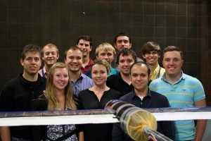 2013 Aero Academy in the tunnel with their test model